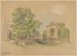The Bailey Guard Gate at the Residency, Lucknow (U.P.). 24 February 1870